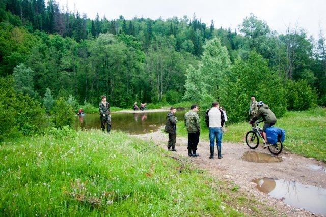 Велосипедисты река Аша