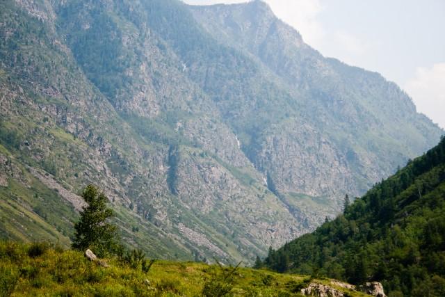 Водопад в долине реки Чульча