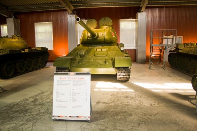 Музее бронетанковой техники Т-34-85