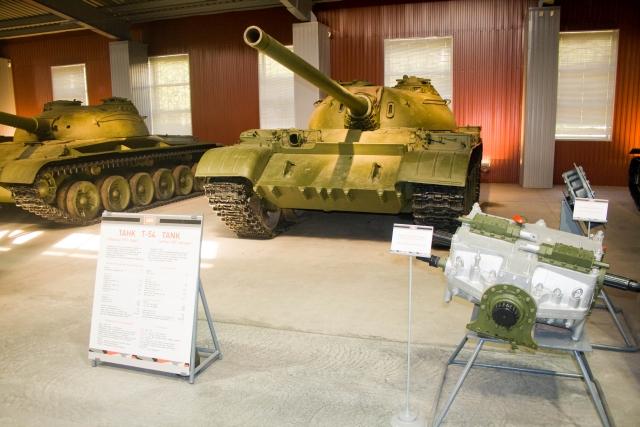 Музее бронетанковой техники Т-54