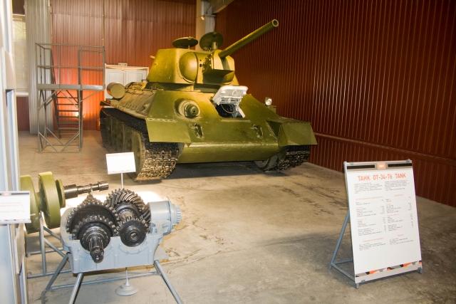 Музее бронетанковой техники ОТ-34-76