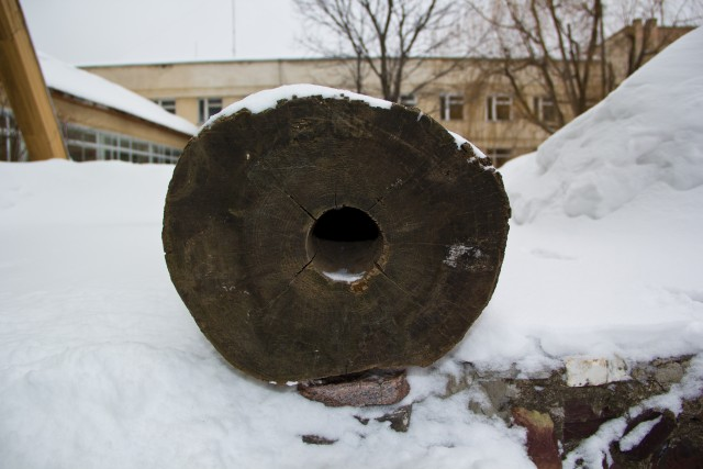 Лесной музей Деревянная труба