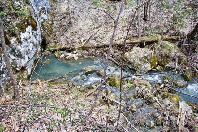 Ручей из под скалы