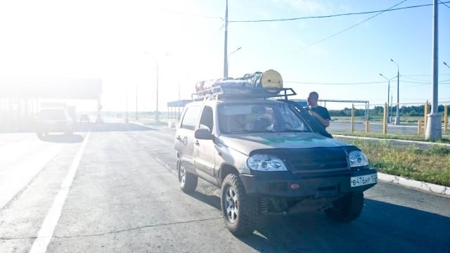 Трасса Иртыш на границе с Казахстаном