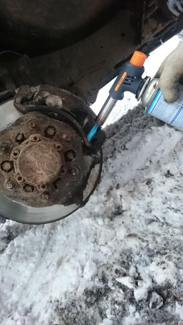 Отогреваем тормозной диск Террано