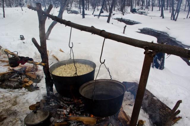 Лагерь в Гумеровском ущелье