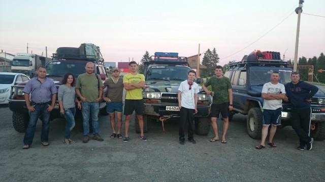 Встреча экипажей рядом с Горнозаводском