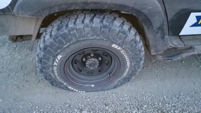 Спущенное колеса