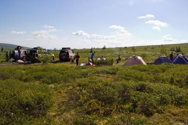 Лагерь в Печоро-Илычском заповеднике