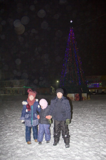 Новогодняя елка в Бутурлиновке