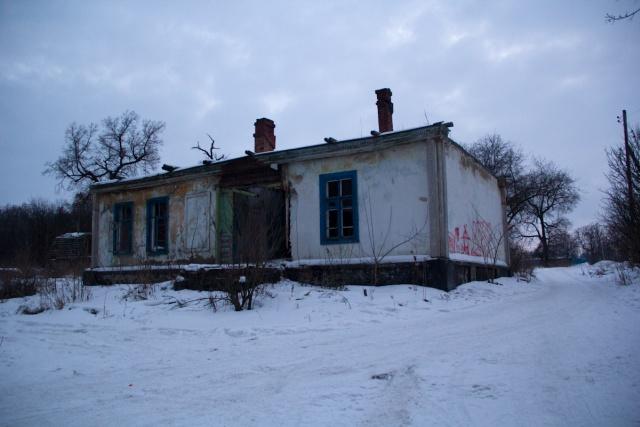 Заброшенное здание рядом с Дачей Башкирцева
