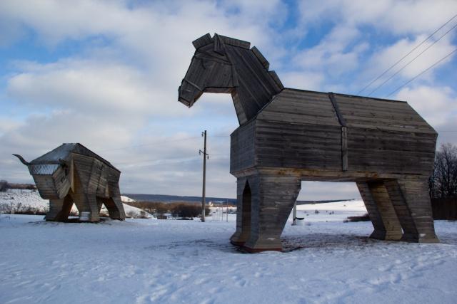 Троянский конь и деревянный бык Кудыкина гора