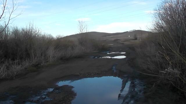 Дорога от озера Узункуль