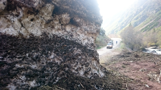 Лавина в Тургеньском ущелье