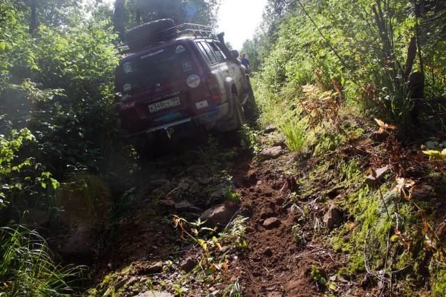 ТЛК80 забирается на гору Ак-Тюбе