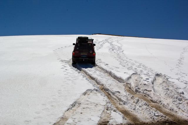 ТЛК80 едет по снегу