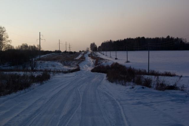 Заснеженная дорога к Зауфе